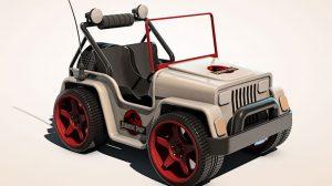 مدل سه بعدی ماشین Go-Kart