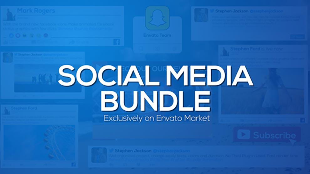 پروژه افترافکت Social Media Bundle