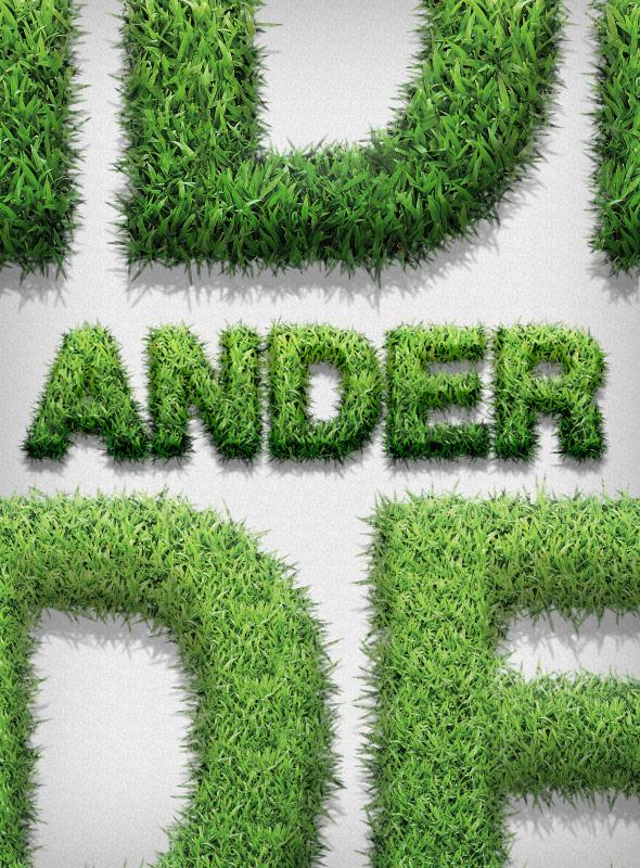 اکشن فتوشاپ تولید سبزه