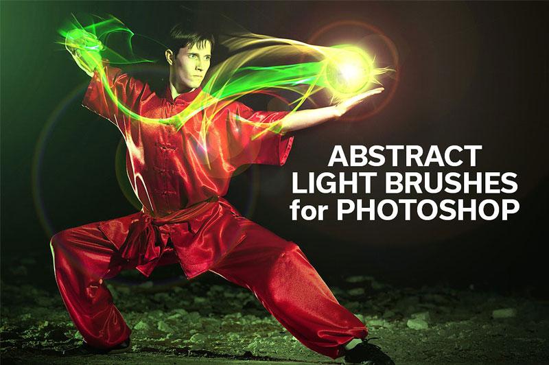 مجموعه 60 براش فتوشاپ نور انتزاعی