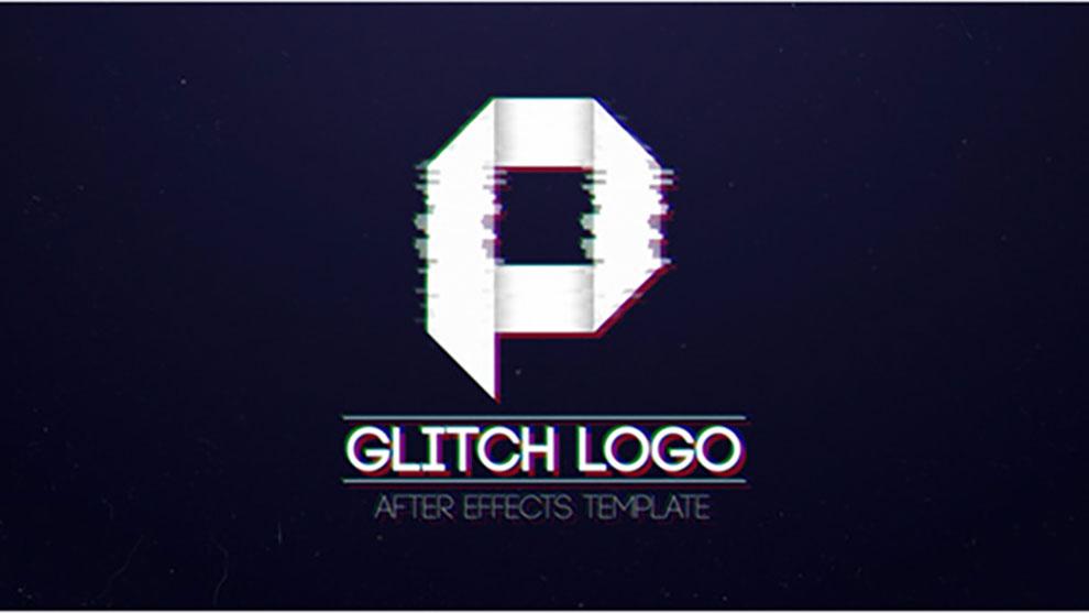 پروژه افترافکت نمایش لوگو با افکت قطعی دیجیتال Glitch