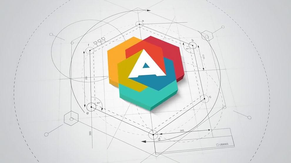 پروژه افترافکت نمایش لوگوی معمار