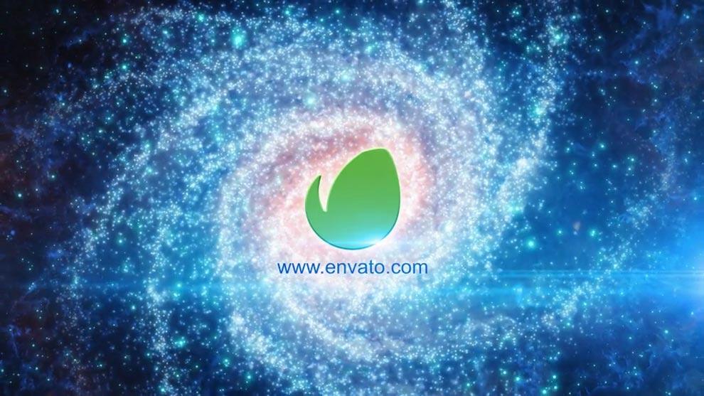 پروژه افترافکت نمایش لوگو در کهکشان