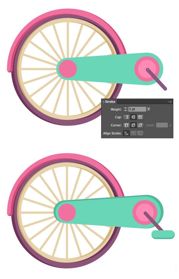 روش ایجاد یک دوچرخه رنگارنگ کودکانه در ادوبی ایلوستریتور
