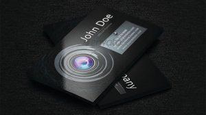 قالب کارت ویزیت زیبا برای حرفه عکاسی