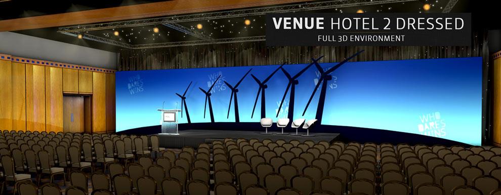 مجموعه مدل های سه بعدی سینمافوردی برای نمایشگاهها و رویدادها - محل مبله شده برگزاری مراسم و مجالس در هتل 2