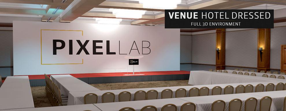 مجموعه مدل های سه بعدی سینمافوردی برای نمایشگاهها و رویدادها - محل مبله شده برگزاری مراسم و مجالس در هتل
