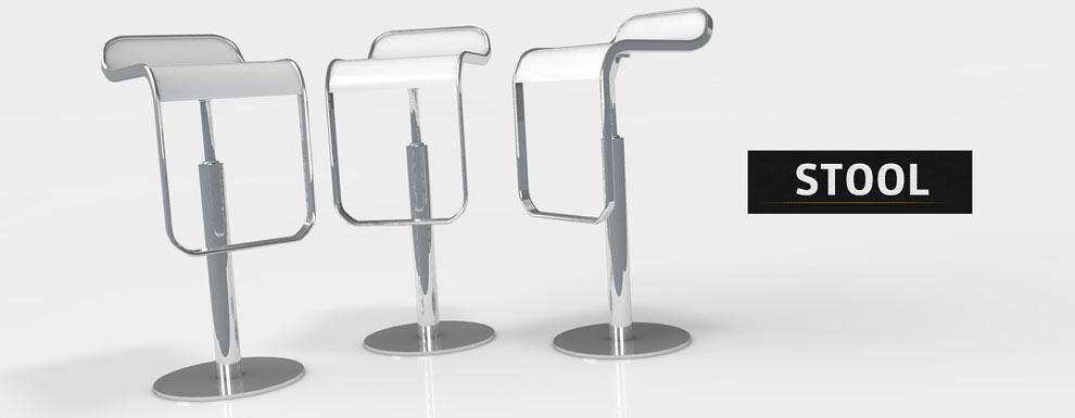 مجموعه مدل های سه بعدی سینمافوردی برای نمایشگاهها و رویدادها - صندلی پایه بلند 1