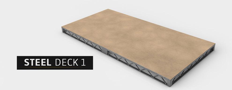 مجموعه مدل های سه بعدی سینمافوردی برای نمایشگاهها و رویدادها - سقف فولادی 1
