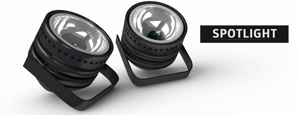 مجموعه مدل های سه بعدی سینمافوردی برای نمایشگاهها و رویدادها - نور افکن