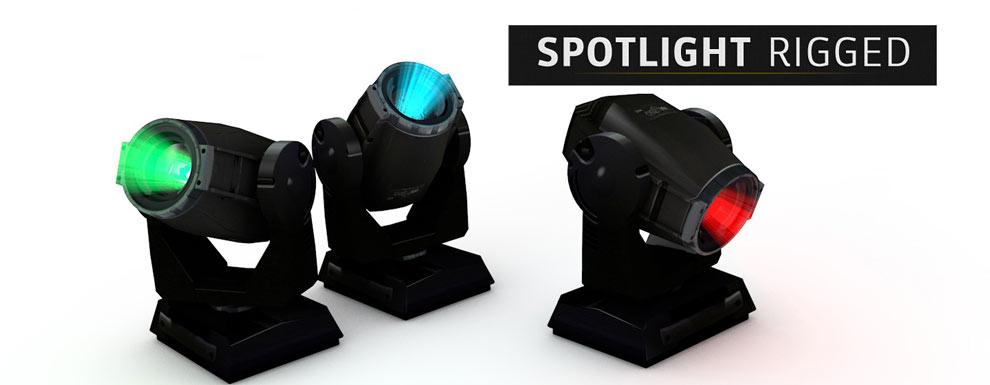 مجموعه مدل های سه بعدی سینمافوردی برای نمایشگاهها و رویدادها - نور افکن های ریگ شده