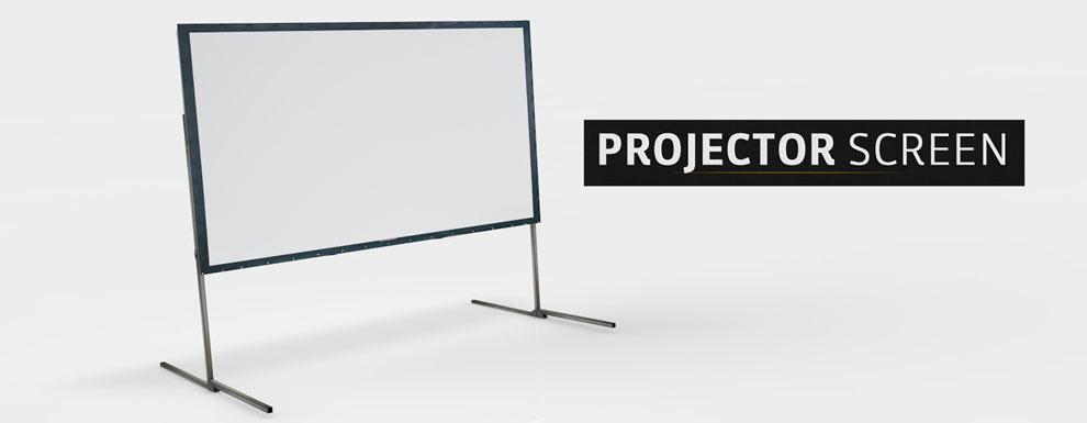 مجموعه مدل های سه بعدی سینمافوردی برای نمایشگاهها و رویدادها - پرده پروژکتور