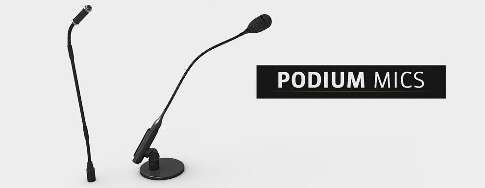 مجموعه مدل های سه بعدی سینمافوردی برای نمایشگاهها و رویدادها - میکروفون سکوی سخنران