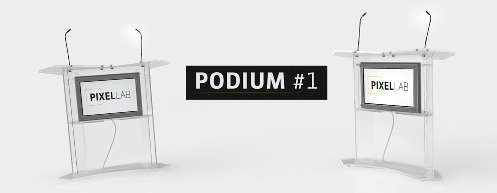 مجموعه مدل های سه بعدی سینمافوردی برای نمایشگاهها و رویدادها - سکوی سخنرانی 1