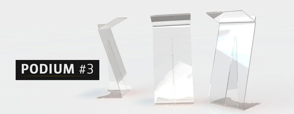 مجموعه مدل های سه بعدی سینمافوردی برای نمایشگاهها و رویدادها - سکوی سخنرانی 3