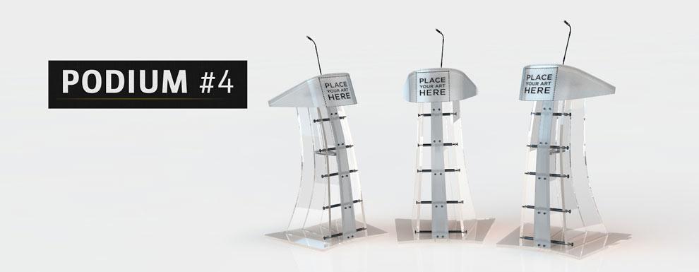 مجموعه مدل های سه بعدی سینمافوردی برای نمایشگاهها و رویدادها - سکوی سخنرانی 4