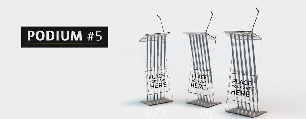 مجموعه مدل های سه بعدی سینمافوردی برای نمایشگاهها و رویدادها - سکوی سخنرانی 5