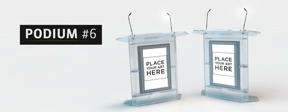 مجموعه مدل های سه بعدی سینمافوردی برای نمایشگاهها و رویدادها - سکوی سخنرانی 6