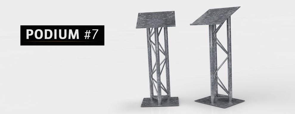 مجموعه مدل های سه بعدی سینمافوردی برای نمایشگاهها و رویدادها - سکوی سخنرانی 7