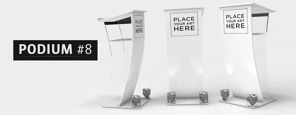 مجموعه مدل های سه بعدی سینمافوردی برای نمایشگاهها و رویدادها - سکوی سخنرانی 8