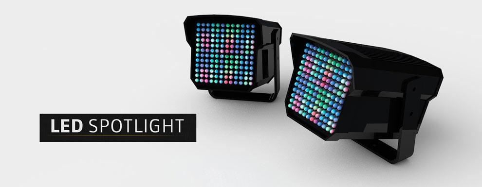 مجموعه مدل های سه بعدی سینمافوردی برای نمایشگاهها و رویدادها - نور افکن LED