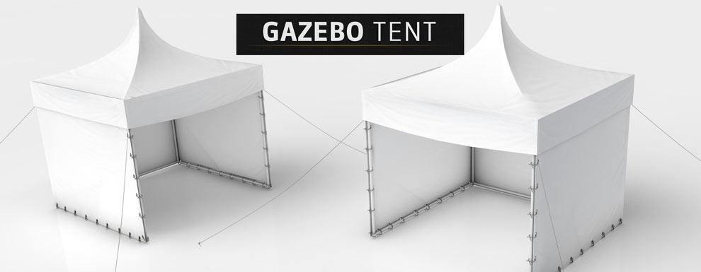 مجموعه مدل های سه بعدی سینمافوردی برای نمایشگاهها و رویدادها - چادر خیمه نیمه باز