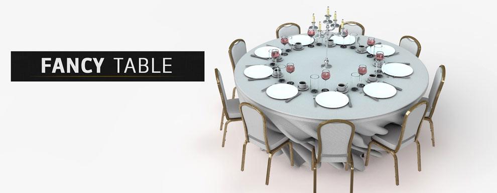 مجموعه مدل های سه بعدی سینمافوردی برای نمایشگاهها و رویدادها - میز مجلسی