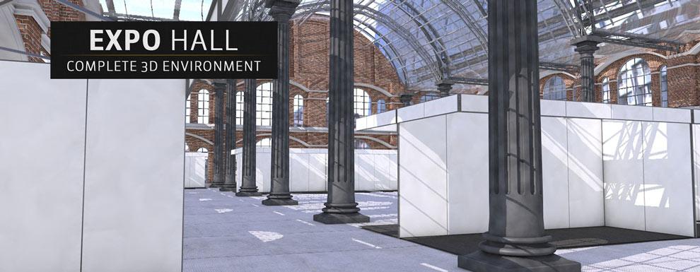 مجموعه مدل های سه بعدی سینمافوردی برای نمایشگاهها و رویدادها - سالن نمایشگاه
