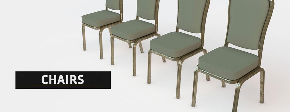 مجموعه مدل های سه بعدی سینمافوردی برای نمایشگاهها و رویدادها - صندلی