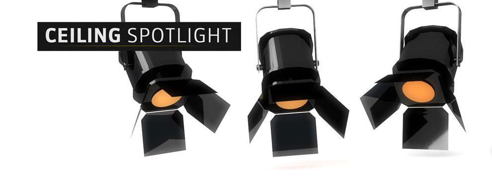 مجموعه مدل های سه بعدی سینمافوردی برای نمایشگاهها و رویدادها - نور افکن سقفی