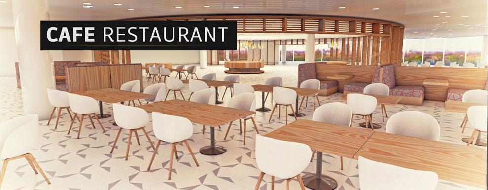 مجموعه مدل های سه بعدی سینمافوردی برای نمایشگاهها و رویدادها - کافه رستوران