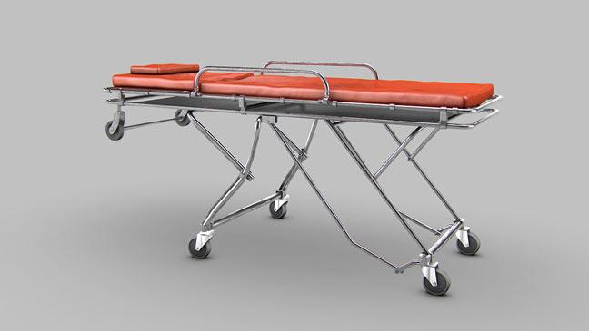 مجموعه مدل های سه بعدی پزشکی - برانکارد اورژانس