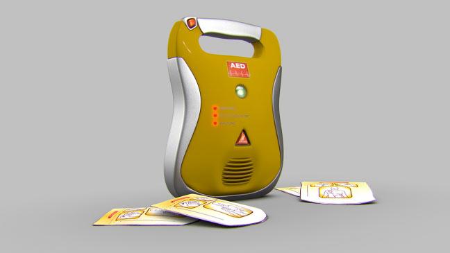 مجموعه مدل های سه بعدی پزشکی - دستگاه شوک