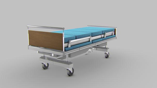 مجموعه مدل های سه بعدی پزشکی - تخت بیمارستان