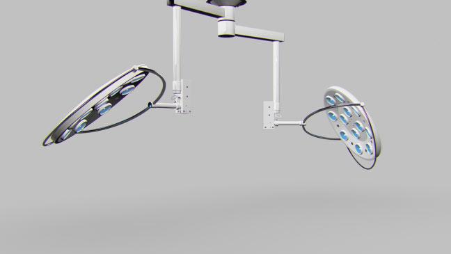 مجموعه مدل های سه بعدی پزشکی - چراغ های نور اتاق عمل