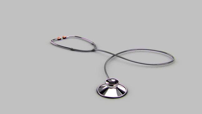 مجموعه مدل های سه بعدی پزشکی - گوشی ضربان سنج