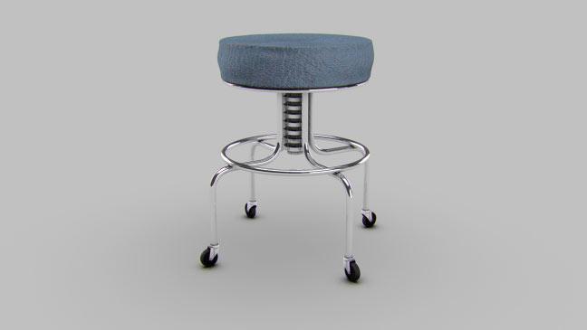 مجموعه مدل های سه بعدی پزشکی - صندلی چارپایه