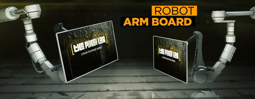 مجموعه مدل های سه بعدی صفحه نمایش ویدیو - صفحه نمایش بازوی ربات