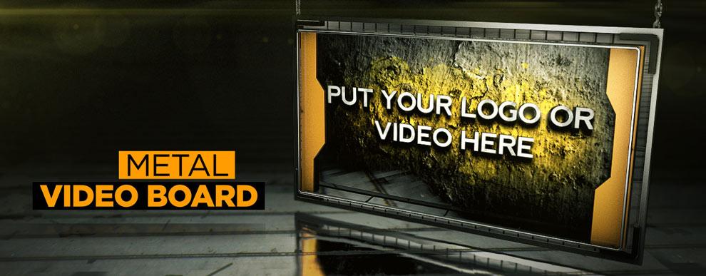 مجموعه مدل های سه بعدی صفحه نمایش ویدیو - صفحه نمایش فلزی