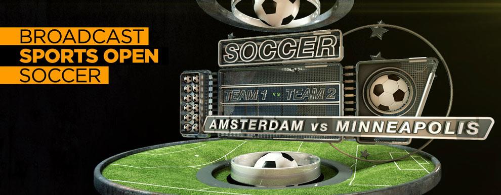 مجموعه مدل های سه بعدی صفحه نمایش ویدیو - مجموعه مدل های سه بعدی صفحه نمایش ویدیو - صحنه ورزشی باز پخش مسابقه فوتبال