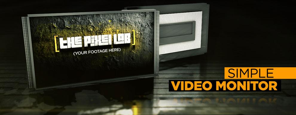 مجموعه مدل های سه بعدی صفحه نمایش ویدیو - مانیتور ساده پخش ویدیو