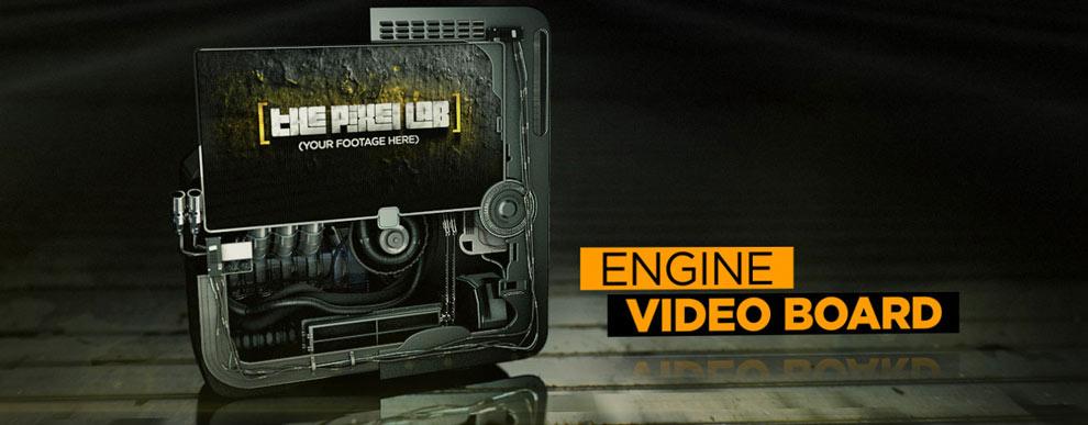 مجموعه مدل های سه بعدی صفحه نمایش ویدیو - صفحه نمایش ویدیوی موتور دار