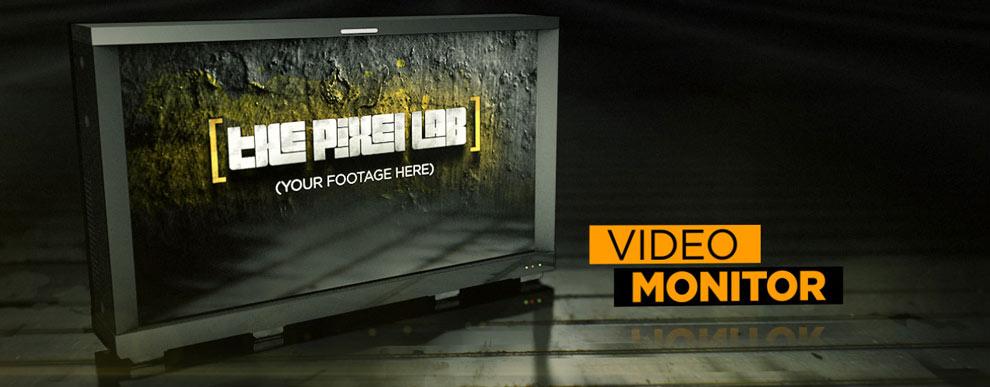 مجموعه مدل های سه بعدی صفحه نمایش ویدیو - مانیتور ویدیو