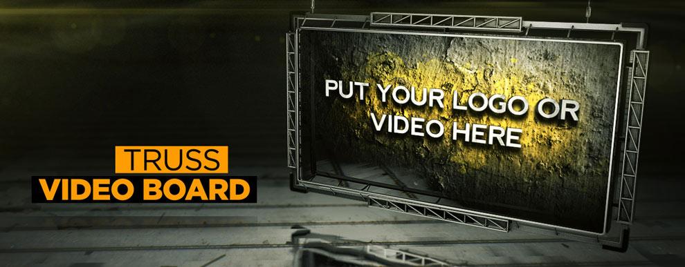 مجموعه مدل های سه بعدی صفحه نمایش ویدیو - صفحه نمایش ویدیو با سازه خرپا