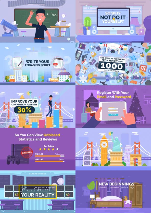 پروژه افترافکت مجموعه ابزار ساخت انیمیشن تبلیغاتی