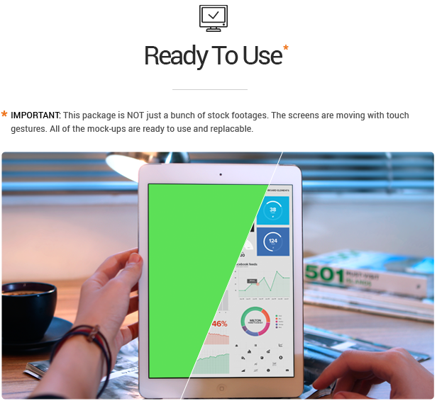 پروژه افترافکت مجموعه موکاپ واقعی iTouch