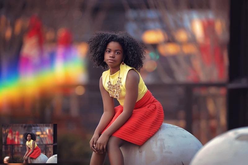 مجموعه اکشن فتوشاپ پوشش های نور درخشان شعله لنز