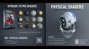 مجموعه 250 متریال سهبعدی Pro Shaders 2 برای Element 3D