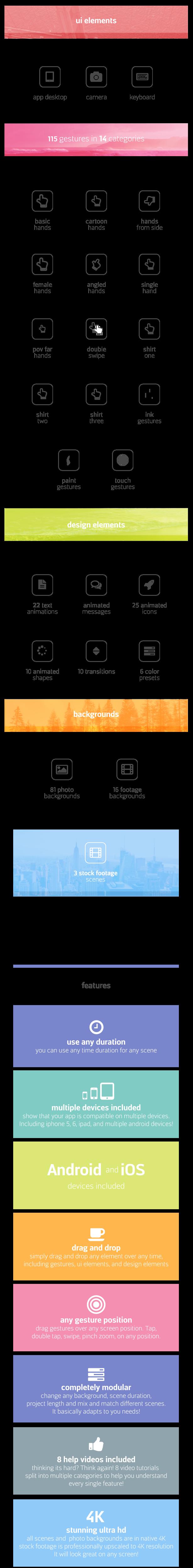 پروژه افترافکت مجموعه ابزار جامع ساخت تیزر تبلیغاتی اپلیکیشن