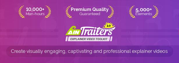پروژه افترافکت مجموعه ابزار جامع ساخت انیمیشن تبلیغاتی AinTrailers